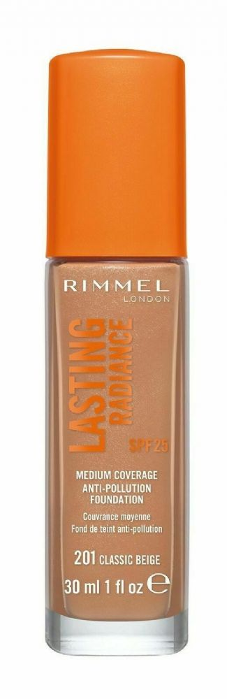 Makeup Rimmel London women LASTING RADIANCE foundation SPF25 #201-classic beige